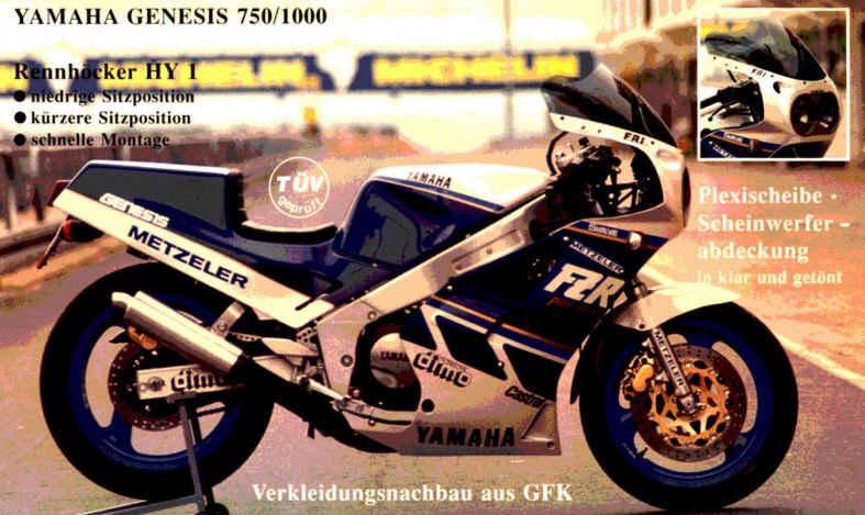 Yamaha fzr 1000 de 1987 car interior design